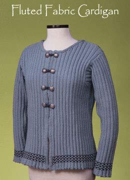 (Fluted Fabric Cardigan 137 Vermont Fiber Pattern)