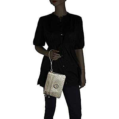 Wristlet Wallet Purse | 2-in-1 Crossbody Bags for Women | Pocketbook Clutch Stachel | MKF Collection Roonie Milan Signature Design