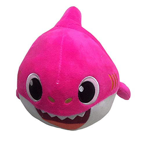 MY BIBY Baby Shark Singing Dancing Plush Toy Singing Dancing Baby Shark Stuffed Animal Doll Toys,Great Gift for Baby Kids (Pink)