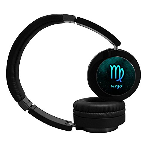 PeKnt Virgo Wireless Bluetooth Headphones Stereo Over-ear Fold Headset Black