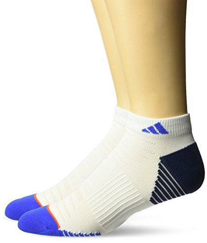 adidas Mens Superlite Prime Mesh Low Cut Socks (2-Pack), White/Collegiate Navy/Blue/Energy Red, Large