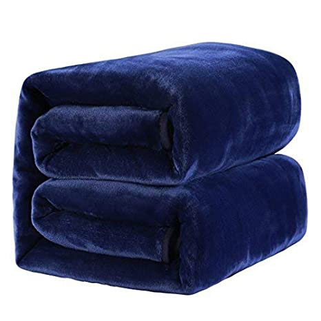 MEROUS Soft Queen Size Fleece Bed Blanket 330 GSM Warm Cozy Microfiber Fuzzy Lightweight All Season Blankets for Couch Travel Sofa,Gray