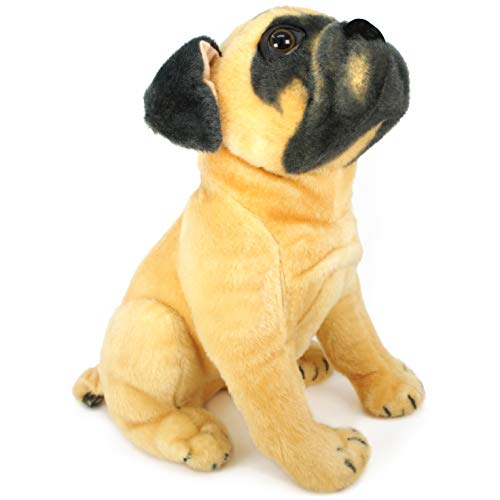 - VIAHART Pippen The Pug | 15 Inch Large Dog Stuffed Animal Plush Dog | by Tiger Tale Toys
