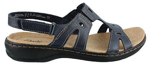 CLARKS Women's Leisa Annual, Navy, 11 M US