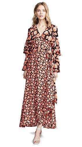 Diane von Furstenberg Women's Alice Dress, Berries Black, ()