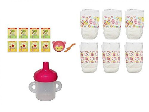 Hasbro Baby Alive Diapers and Food with Bowl/Spoon Accessory Refill Pack - Packaging May Vary