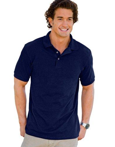 Shirt Sleeve Sport Pique (Hanes 055X Unisex ComfortSoft Pique Knit Sport Shirt Deep (Navy/Small))