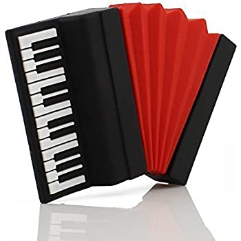 CHUYI Novelty Music Series Accordion Shape 8GB USB 2.0 Flash Drive Pen Drive Cute Thumb Drive Cartoon Memory Stick Storage U Disk Jump Drive Gift