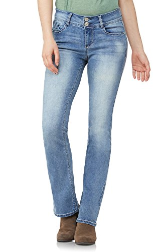 WallFlower Jeans Junior's Instastretch Luscious Curvy Bootcut Jeans, Fiji, 13 by WallFlower