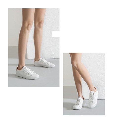 donna scarpe Scarpe vento con scarpe rotonde pizzo per UN a da casual dolce bianche DHG 35 bianche collegio primaverile OFtd6wqwx