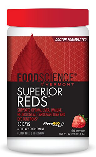FoodScience of Vermont Superior Reds, High ORAC Antioxidant and Immune Support Powder Blend, 60 Servings