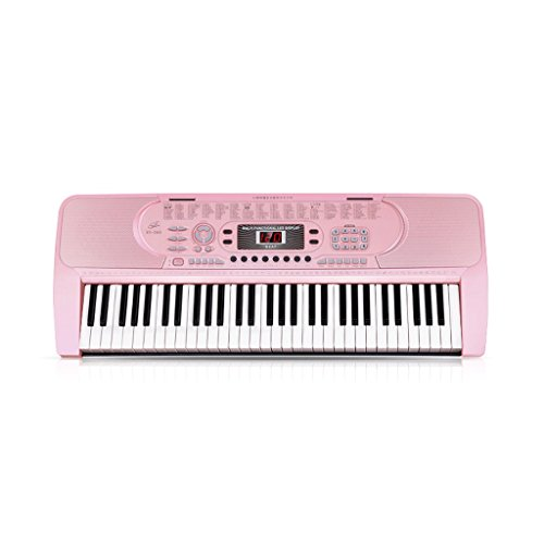 DUWEN Keyboard Multi-function Children's Beginner Keyboard 61 Key Teaching 88 Imitation Girl 260 Cherry Blossom Pink -