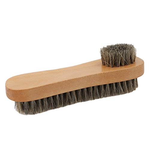 Decor Horsehair - Mane Shoe Brush Wooden Handle Shoes Shine Polish Bristle Horse Hair Buffing Brush Home Cleaning Brush