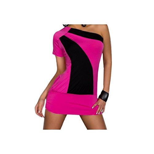 """Waooh - Fashion - Mini asymmetrischen zweifarbigen Kleid """" Josephine """" - Rose"""