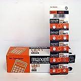 Maxell 10-Pieces Lr41 Ag3 Lr736 392 392a 192 Sr41 Button Coin Cell Battery