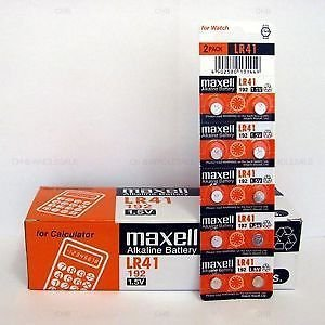 Maxell 10-Pieces Lr41 Ag3 Lr736 392 392a 192 Sr41 Button Coin Cell Battery General Purpose Batteries & Battery Chargers at amazon