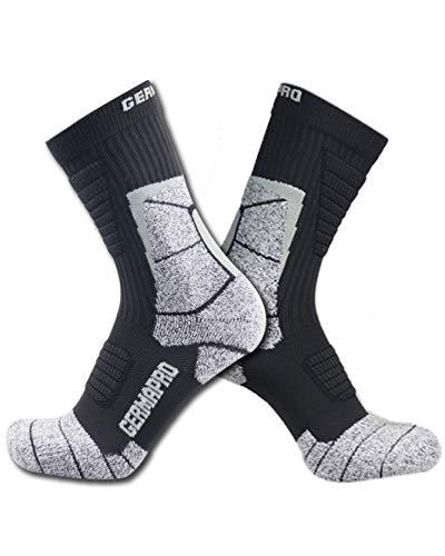 Mens Hiking Socks Outdoor Boot Work Socks w/Anti-Odor-Blister Moisture Wicking Germanium & Coolmax All Season 1/2 pairs (X-Large, 2 Dark Grey Pack)