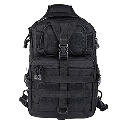 HAOMUK Tactical Sling Bag Pack Military Rover Shoulder Sling Backpack EDC Molle Assault Range Bag Everyday Out Carry Diaper Bag Carry Bag Small