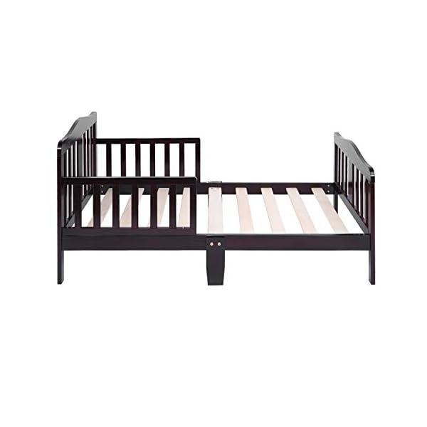 Bonnlo Contemporary Wooden Toddler/Kid Bed Frame Kids Bedroom Furniture 5