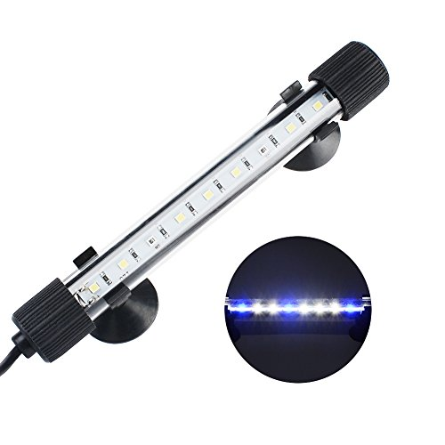 NICREW Submersible LED Aquarium Light, Hidden White with Blue LED Light Stick for Fish Tank, 8-inch, 3W