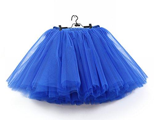 SCFL Jupe Royal Jupe Enjambeur Femme demi glisse Longueur 50cm Enjoliveur Tutu Jupe Ballet rrqpTAwa