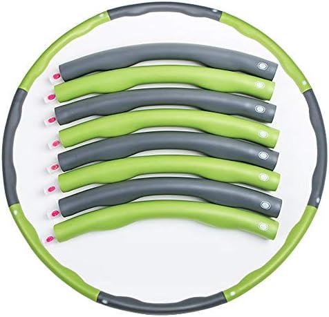 減量ヘルスフラフープ、フィットネスエクササイズフープ、直径37.7インチ、8セクション取り外し可能、汗吸収フォーム、エクササイズ、ダンス、フィットネス&楽しみに最適
