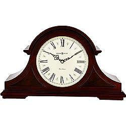 Howard Miller Burton II Mantel Clock 635-107 - Windsor Cherry Wood with Quartz, Triple-Chime Movement