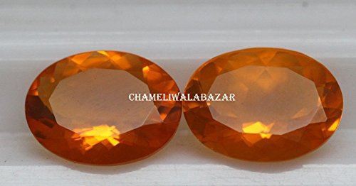 Natural Mexican Fire Opal - 8x10mm Oval Cut Calibrated Size Top SI Quality - Orange Color - Loose Gemstone 1 Pieces - Mexican Gemstone