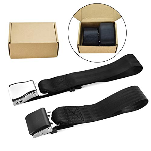 Ansblue FAA Approved / E4 Safety Certified - Airplane Seat Belt Extender 2-Pack with Gift Box Packing - FITS All Airlines (Type A + B) - Suitable for Southwest and All Airlines