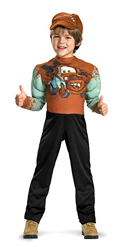 Tow Mater Muscle Toddler Costume 3T-4T - Toddler Halloween Costume (Tow Mater Halloween Costume)