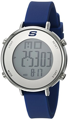 - Skechers Women's Magnolia Quartz Metal and Silicone Digital Watch Color: Silver, Blue (Model: SR6067)