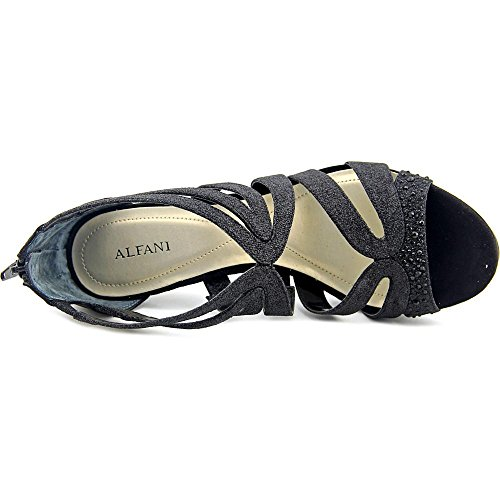 Alfani Womens Cymball Open Toe Special Occasion Strappy Sandals Black 2PdjG0