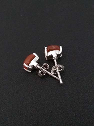 Carnelian Stud Earrings, Sterling Silver Earrings, 0Orange Stud Earrings, Dainty Studs Earrings, Jewellery, Bohemian Earrings, Natural Gemstone Earrings, Post Earrings, Engagement Gift, Gift For Her