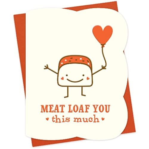 Meat Loaf Letterpress Love Card by Night Owl Paper Goods Sales