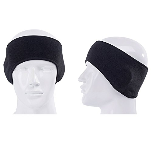 GoYonder Fleece Thermal Headbands Ear Warmers 2 Black