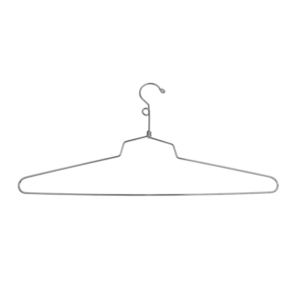 Econoco Commercial Blouse and Dress Hanger with Loop Hook, Steel, 19'' (Pack of 100)