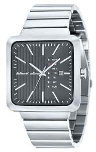 Black Dice BD 062 01 - Reloj analógico de cuarzo para hombre con correa de acero inoxidable, color plateado