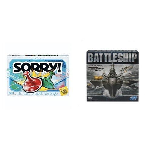 Hasbro Sorry and Battleship Game Bundle