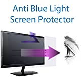Anti Blue Light Screen Protector (3 Pack) for 22 Inches Widescreen Desktop Monitor. Filter Out Blue Light and Relieve Computer Eye Strain to Help You Sleep Better