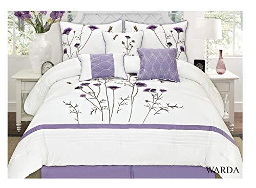 e 7 Pcs Embroidery Comforter Set (Queen) ()