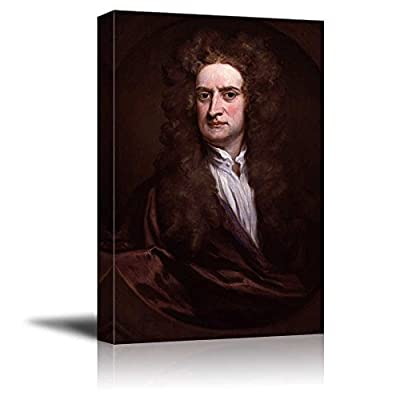 Isaac Newton by Godfrey Kneller Giclee Canvas Prints Wrapped Gallery Wall Art | Stretched and Framed Ready to Hang - 16
