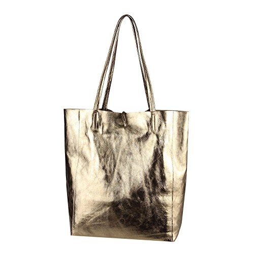 OBC Only-Beautiful-Couture, Borsa a mano donna Rosa Rosa-schlange ca.: 38x36x9 cm (BxHxT) champagne-metallic
