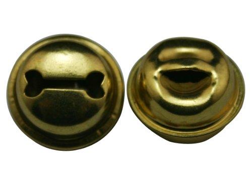 Amanaote - Cascabel de hierro dorado para mascotas de 1,27 cm con puntas redondeadas (paquete de 30)