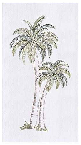 C&F Home Tropical Palm Tree Embroidered Flour Sack Kitchen Dishtowel