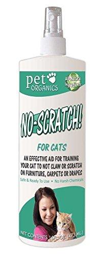 Pet Organics No Scratch Spray for Cats 16oz new by unbrand