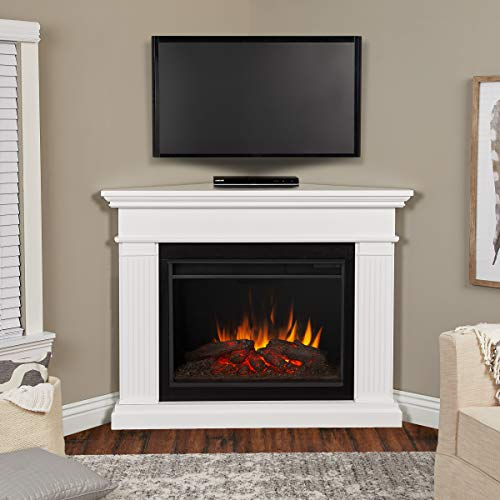 Real Flame Kennedy Grand Corner Electric Fireplace White