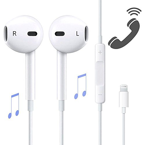 Lightning Earbuds,Jiamn With Microphone Earphones Stereo Headphones and Noise Isolating headset Made for iPhone 7/7 Plus iPhone8/8Plus iPhone X Headphones