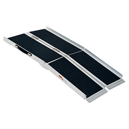 HomCom 4' Aluminum Folding Mobility Scooter / Wheelchair Ramp by HOMCOM