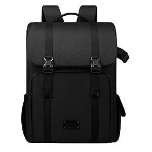 BAGSMART Large Camera Backpack SLR/DSLR Camera Bag for 70-200mm Lens & 15.6″ Laptop with Waterproof Rain Cover & Tripod Holder