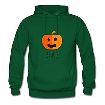 (funnyhalloweenpumpkinboo) Green Speacial Customizable Cool Hoody X-large Women